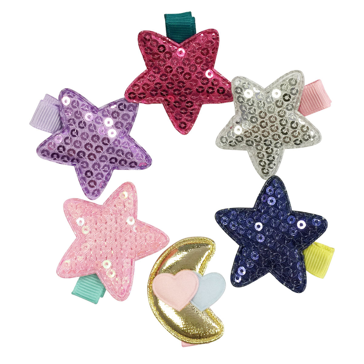 Wrapables Dress up Sparkling Evening Hair Clips, Set of 6