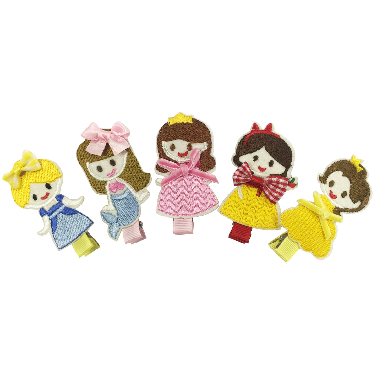 Wrapables Dress Up Fantasy Princess Hair Clips, Set of 5