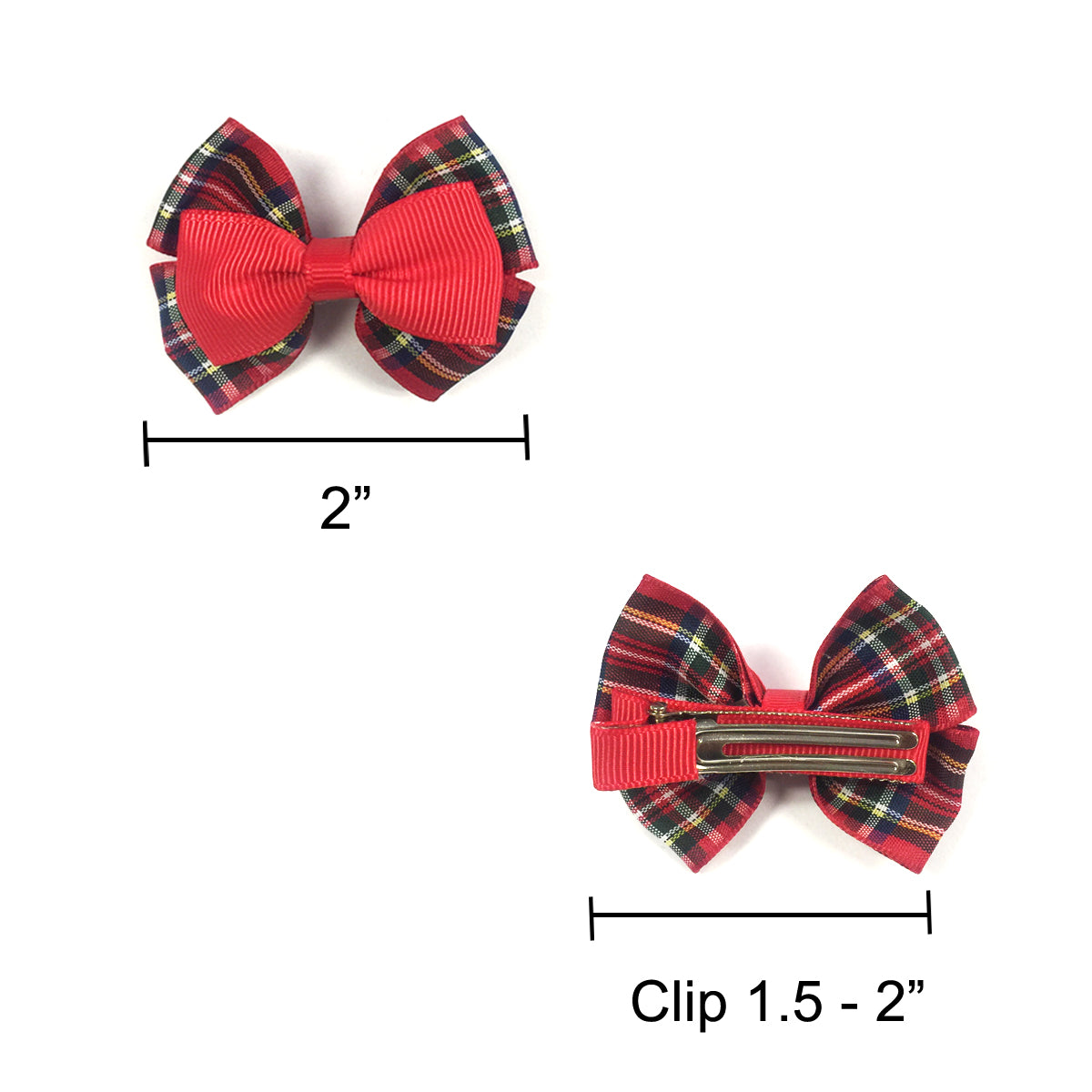 Wrapables Red and Bold Hair Clips (Set of 12)