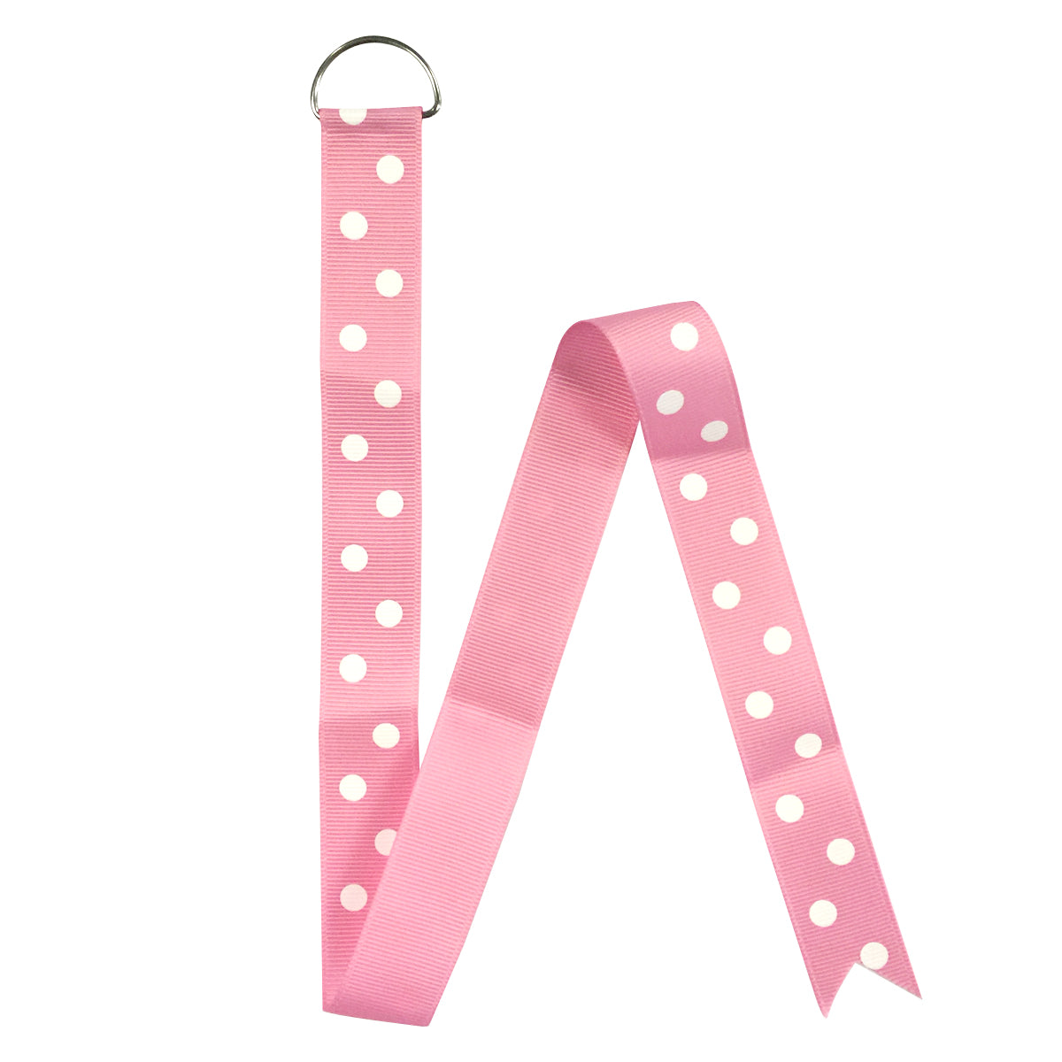 Wrapables Pink Polka Dot Hair Clip and Hair Bow Holder