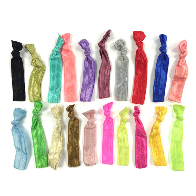 Wrapables 100pcs Assorted Ribbon Hair Ties Ponytail Holders