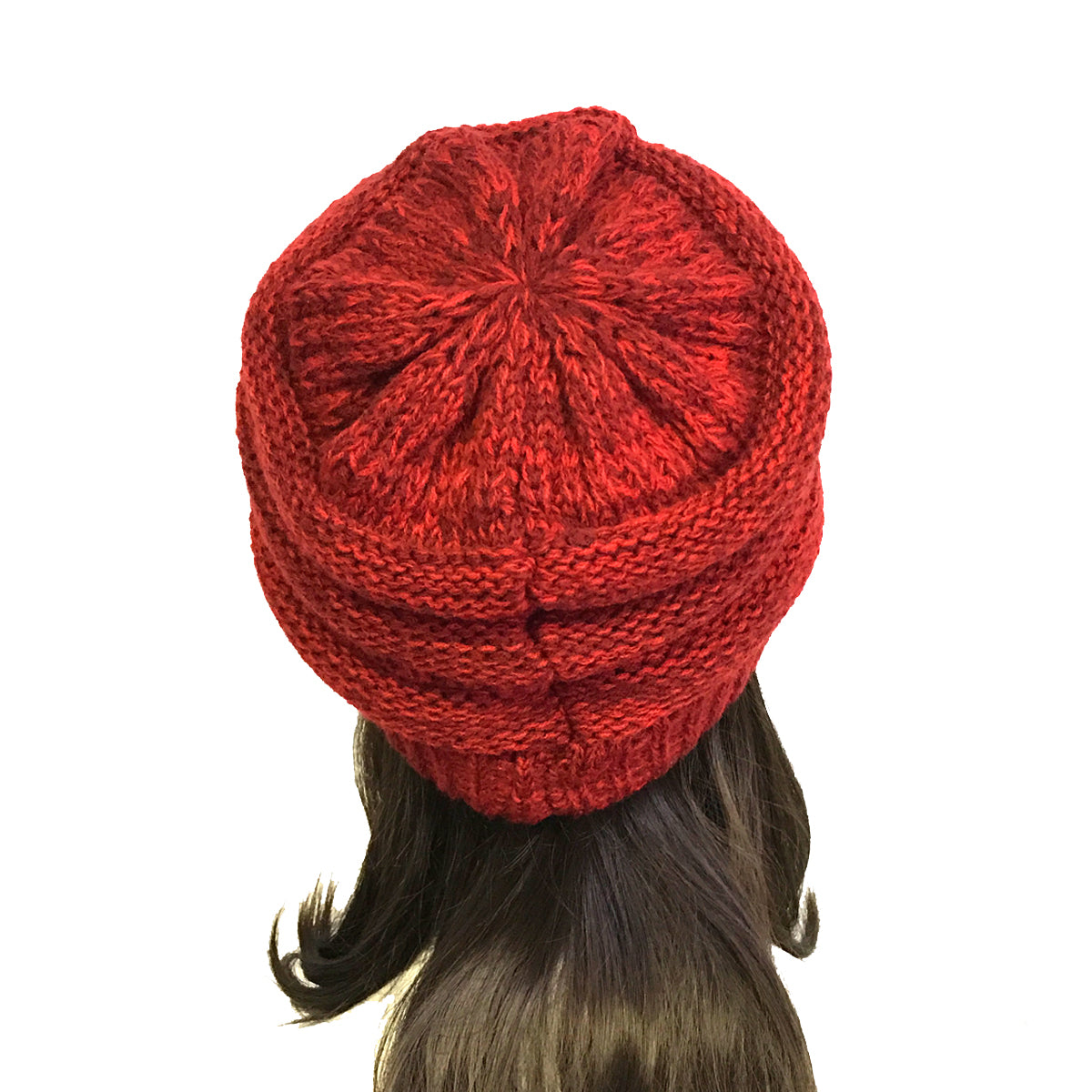 Wrapables Two Tone Knit Beanie Cap Hat