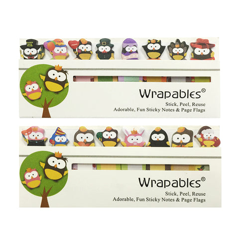 Wrapables Panda Bookmark Flag Index Tab Sticky Notes