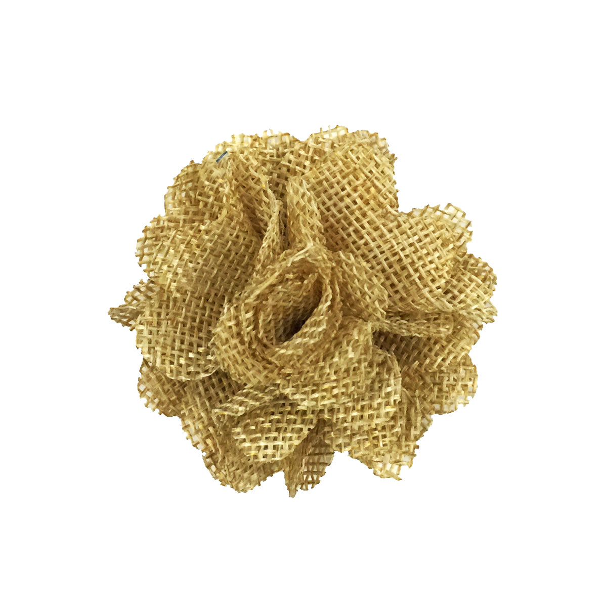 Handmade Burlap Roses Linen Roses Backed with Brooch Pin for Rustic Wedding