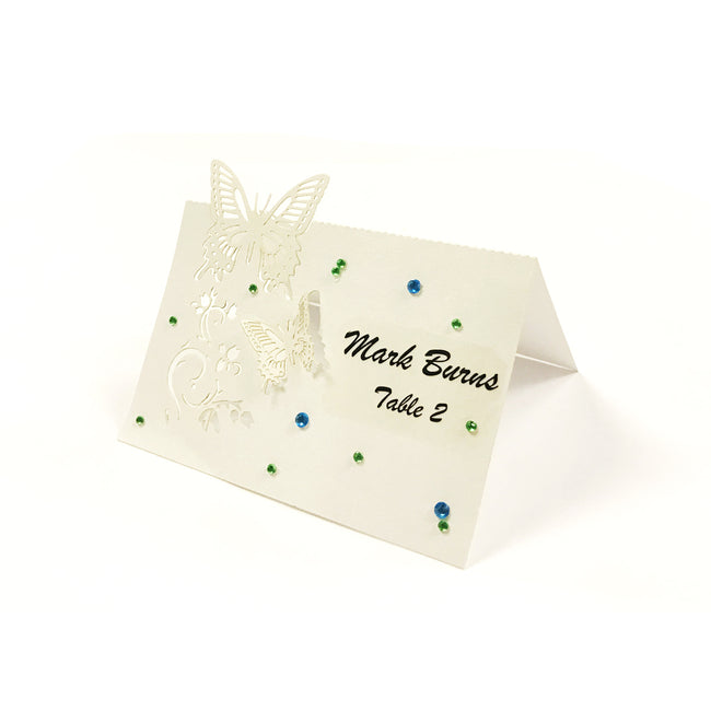 Wrapables? Butterflies Wedding Decor Table Name Place Cards (Set of 50)