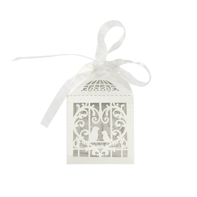 Wrapables? Love Birds Wedding Party Favor Boxes Gift Boxes with Ribbon (Set of 50)