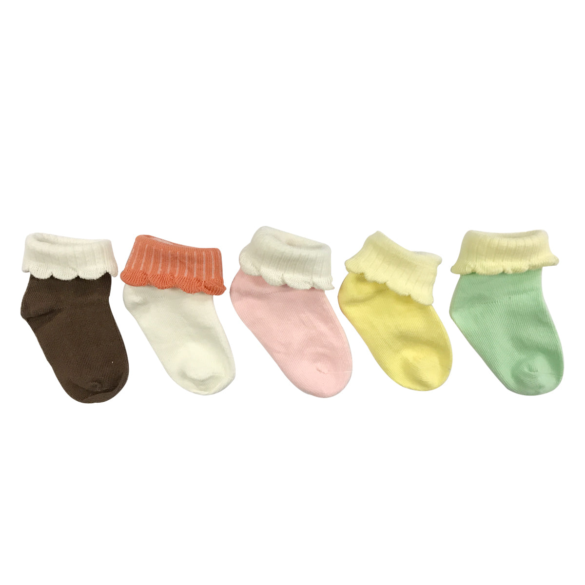 Wrapables Macaroon Color Baby Socks (Set of 5)