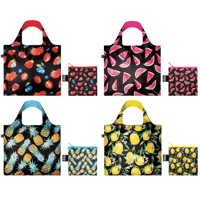 LOQI Juicy Collection Pouch, Set of 4 Reusable Bags