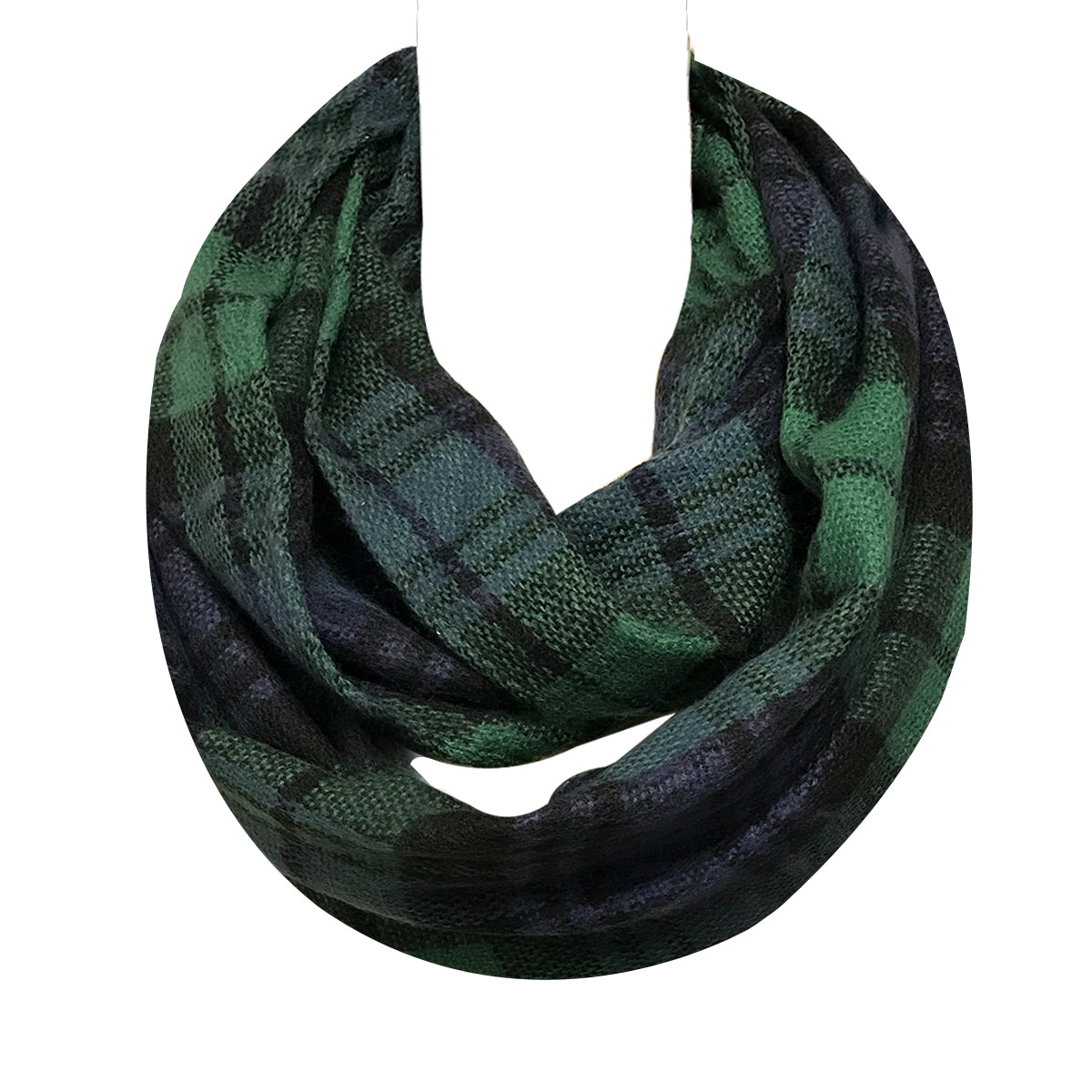 Wrapables Plaid Print Infinity Scarf and Beanie Hat Set