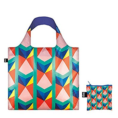 LOQI Geometric2 Triangles Reusable Shopping Bag