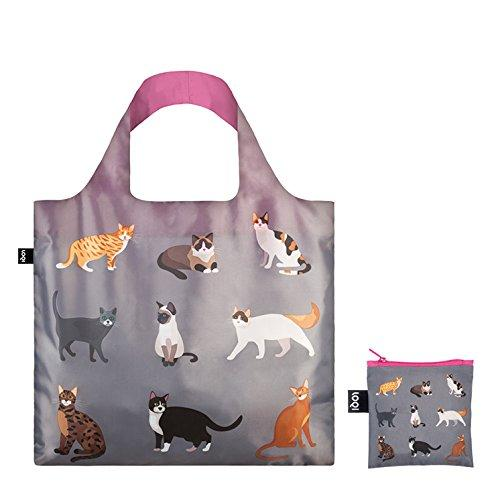 LOQI Cats & Dogs Meow Reusable Shopping Bag