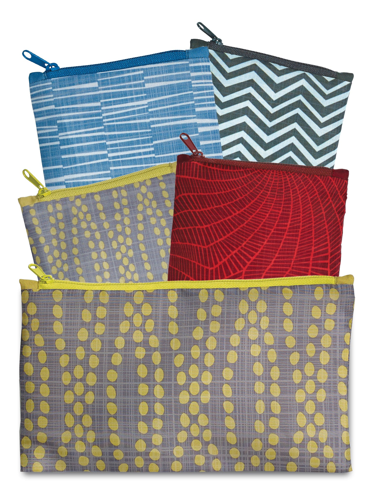 LOQI Elements Collection Pouch, Set of 4 Reusable Bags