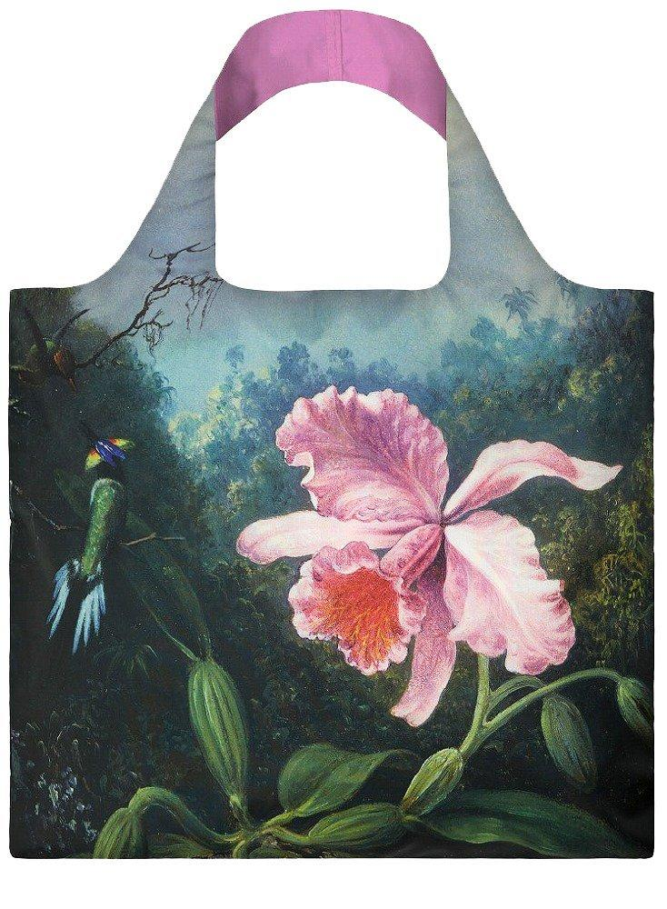 LOQI Museum Martin Johnson Heade Still Life with Orchid Reusable Shopping Bag