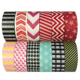Wrapables Washi Masking Tape Collection, Set of 12