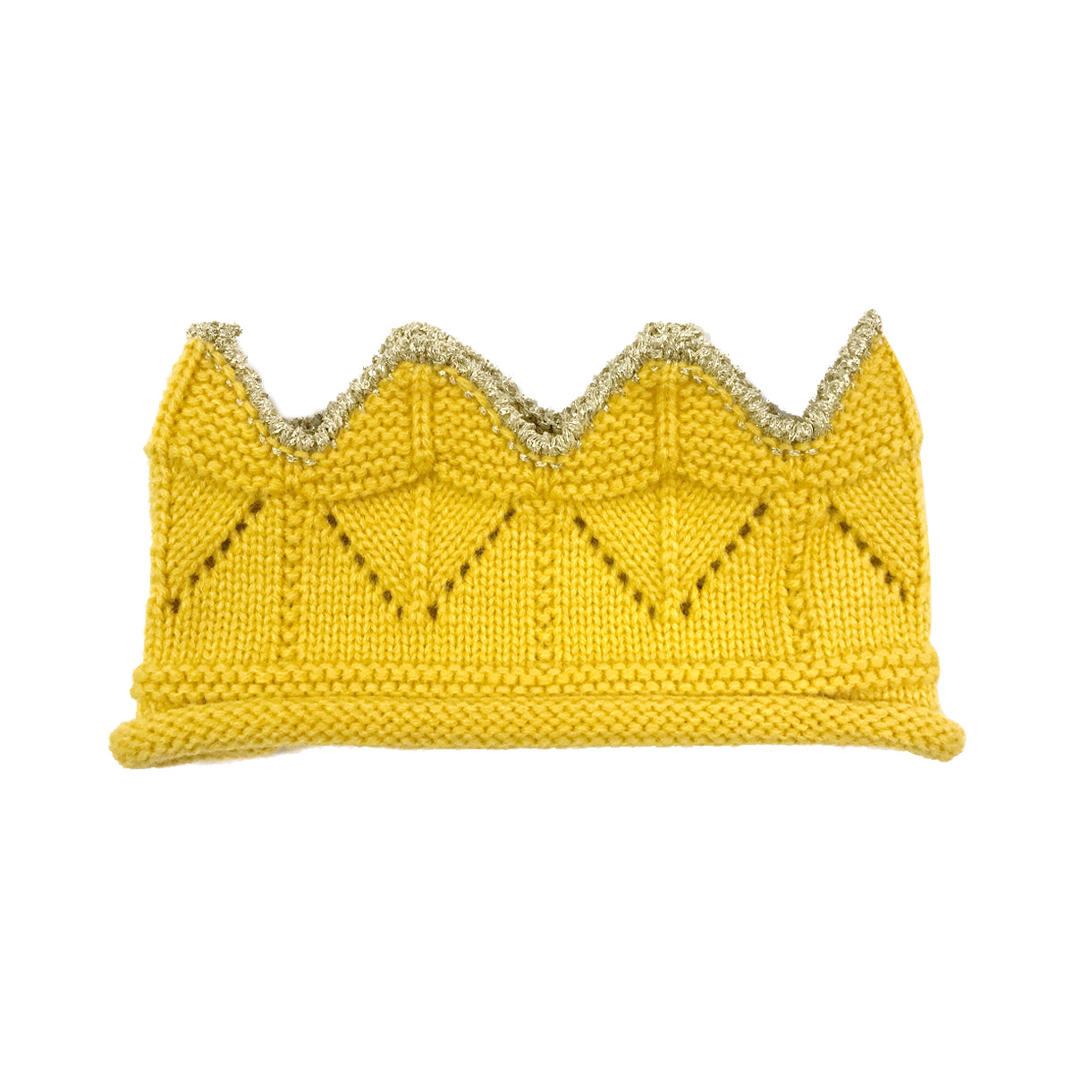 Wrapables Baby Boy & Girl Birthday Party Crochet Knitted Crown Headband Hat with Gold Trim