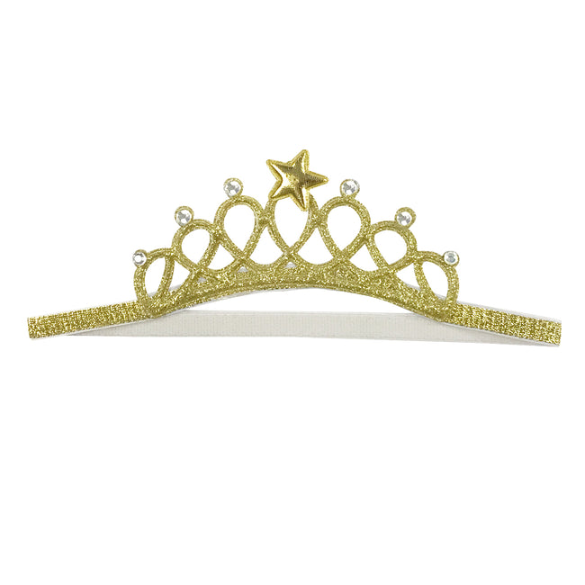 Wrapables Baby Princess Crown Headband with Rhinestones (Set of 2)