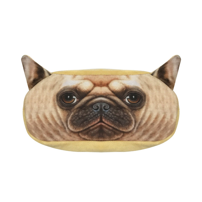 Wrapables Dog Face Zippered Pencil Case (Set of 2)