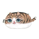 Wrapables Cat Face Cosmetic Pouch Pencil Case (Set of 2)