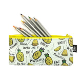 Wrapables Trendy Food Pencil Case and Stationery Pouches (Set of 3)