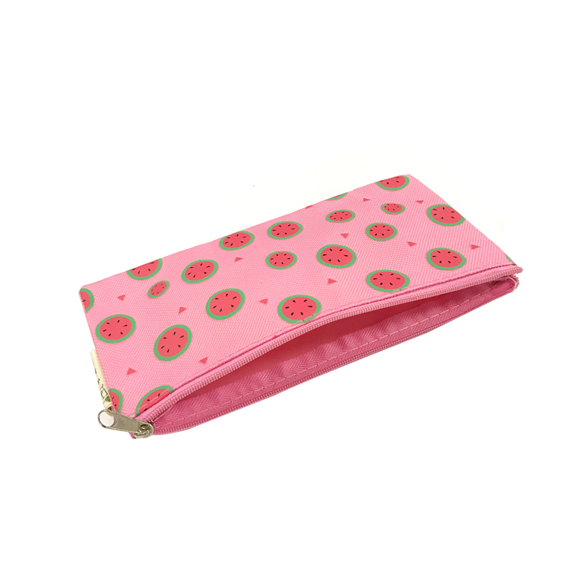 Pink Playful Dogs Fabric Handmade Pencil Case Make Up Bag Storage Pouch