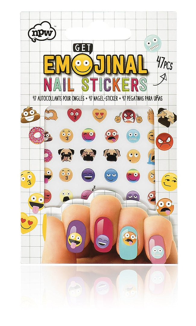 NPW-USA Get Emojinal Nail Art Sticker Decals