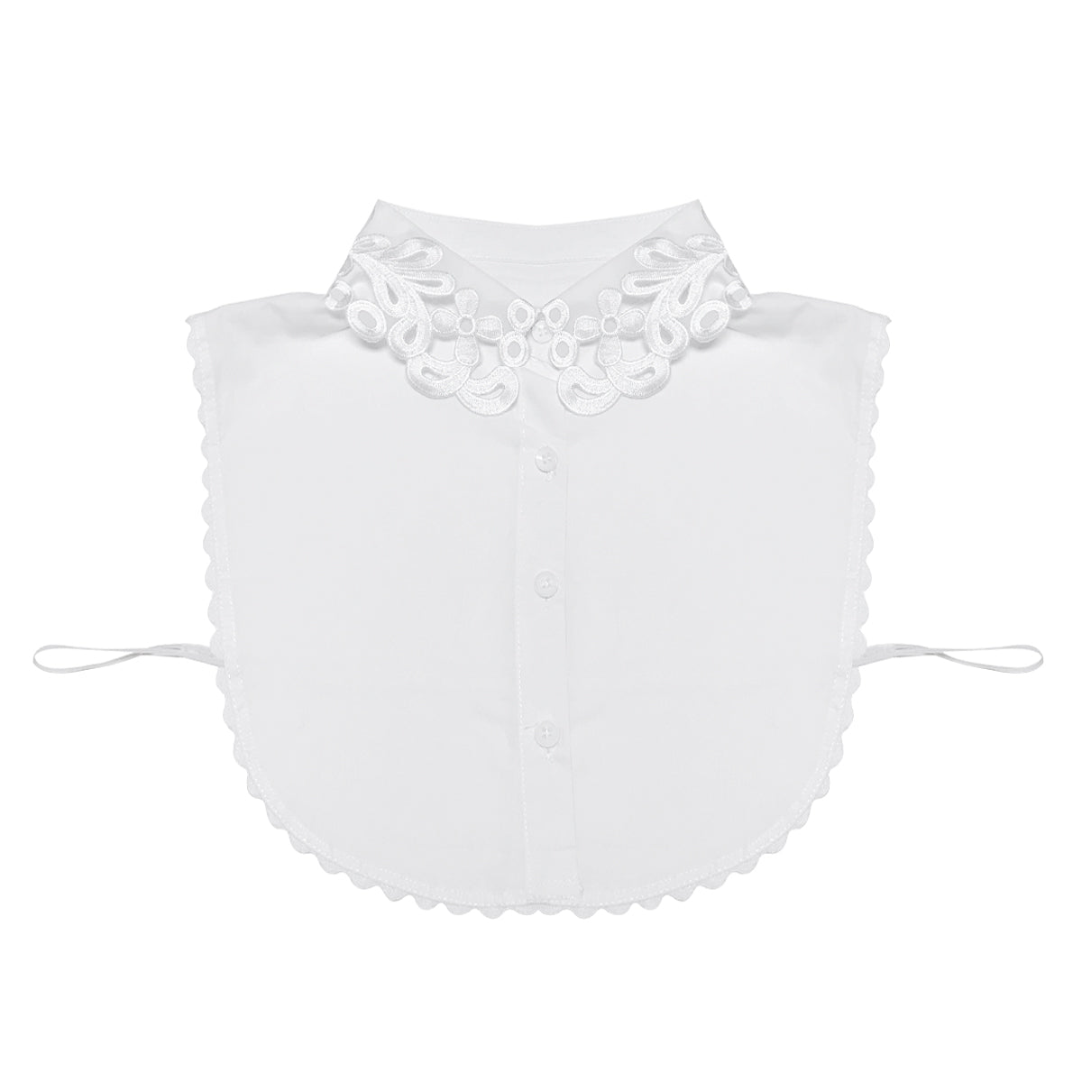 Wrapables Daisy Doily Lace Collar Half Shirt
