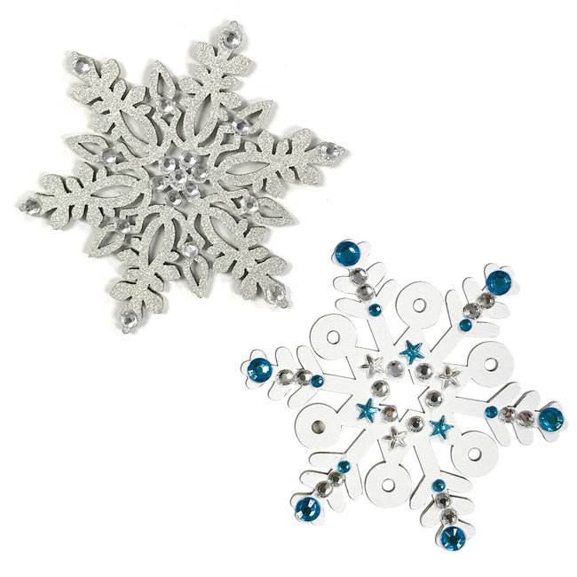 Wrapables Wooden Snowflake Hanging Ornament Christmas Decor (Set of 20)