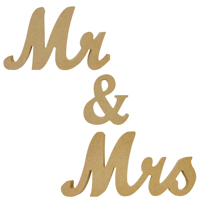 Wrapables? Mr & Mrs Elegant Wooden Letter Wedding Sign, Party Decoration for Photos and Table