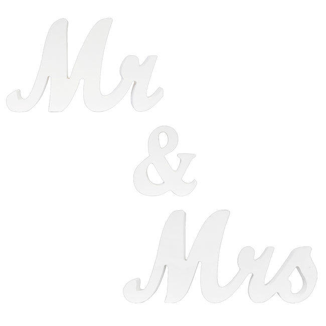 Wrapables? Mr & Mrs Vintage Wooden Letter Sign DIY D?cor Wedding Decoration