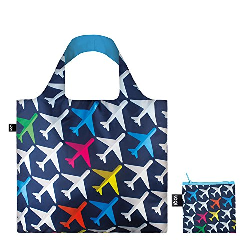 LOQI Backpack & Bag (Set of 2), Airport Airplane