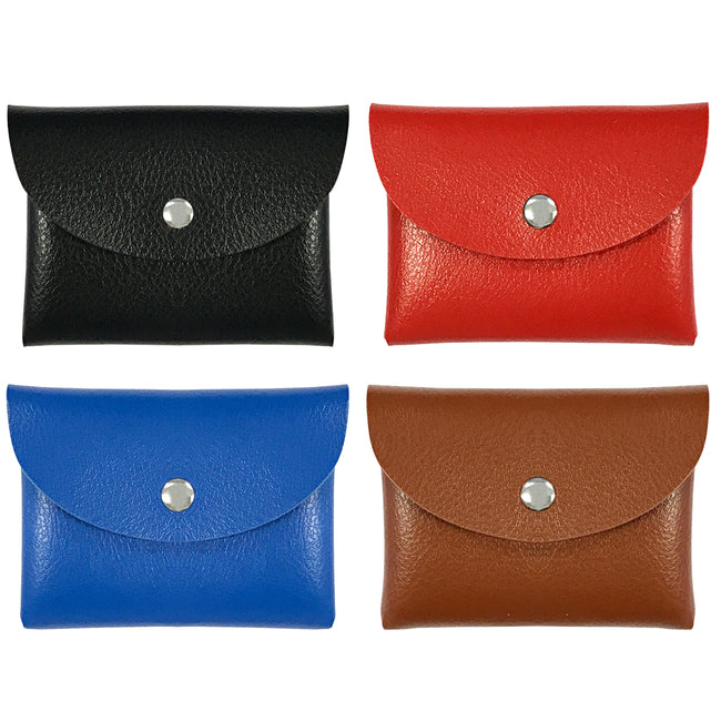 Wrapables Leather Envelope Card and Coin Purse Pouch (Set of 4)