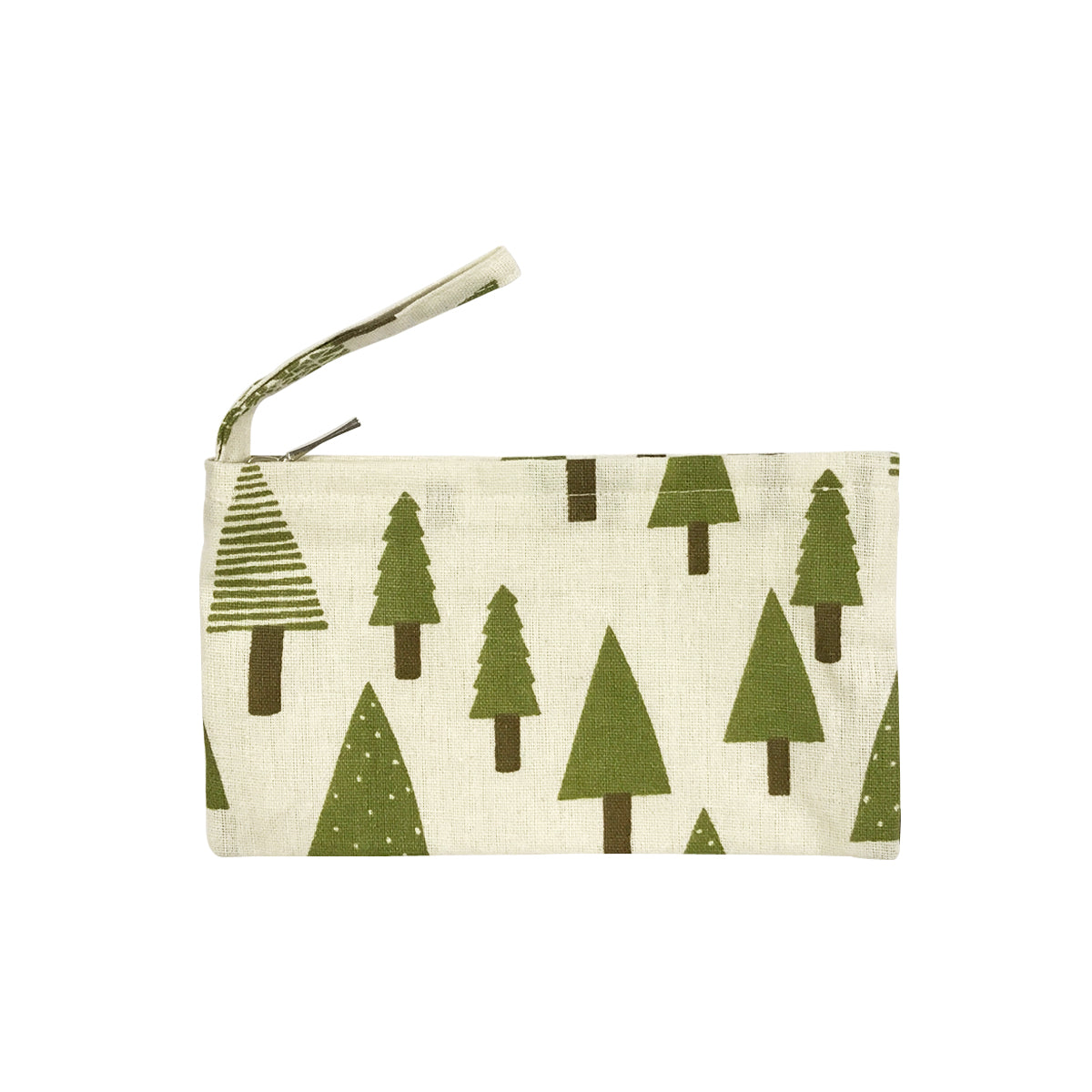 Wrapables Canvas Pencil Pouch Cosmetic Bag Coin Purse Clutch Wristlet (Set of 3), Woodland Wonder