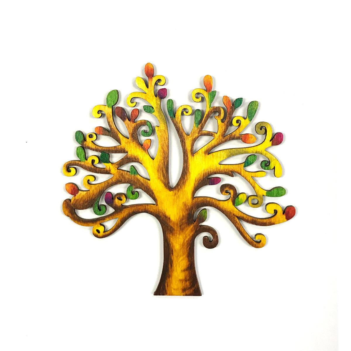Wrapables Wooden Tree Embellishment Tag for DIY Arts & Crafts (Set of 10)