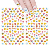 Wrapables 200+ Emoji Nail Stickers Nail Art Emoji Nail Decals Children's Nail Stickers
