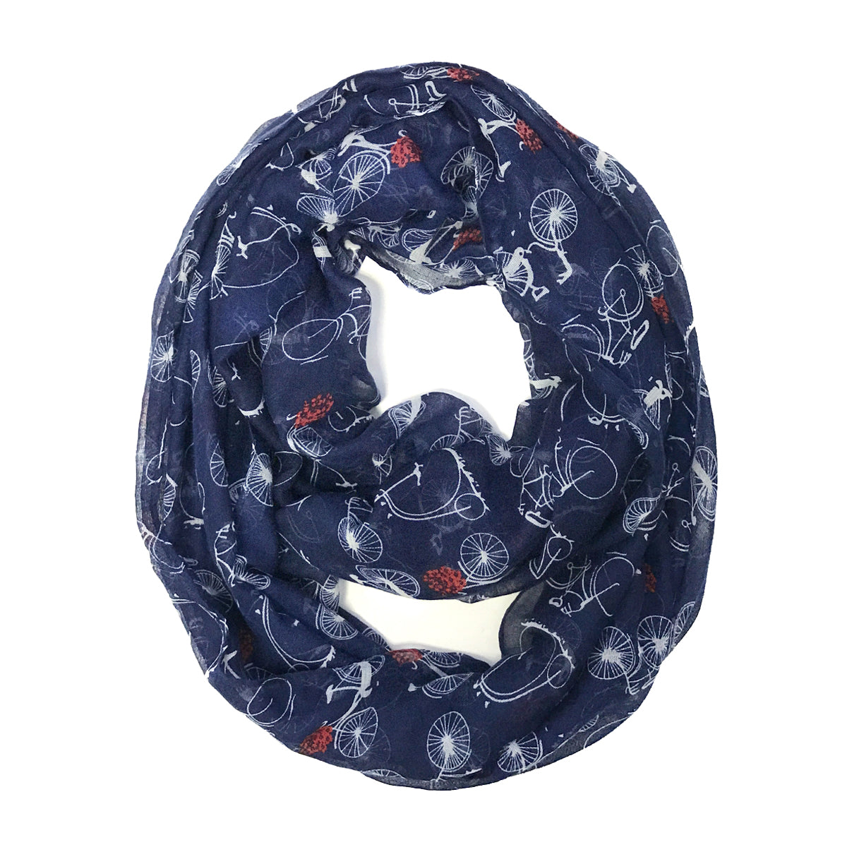Wrapables Lightweight Vintage Bicycle Infinity Scarf