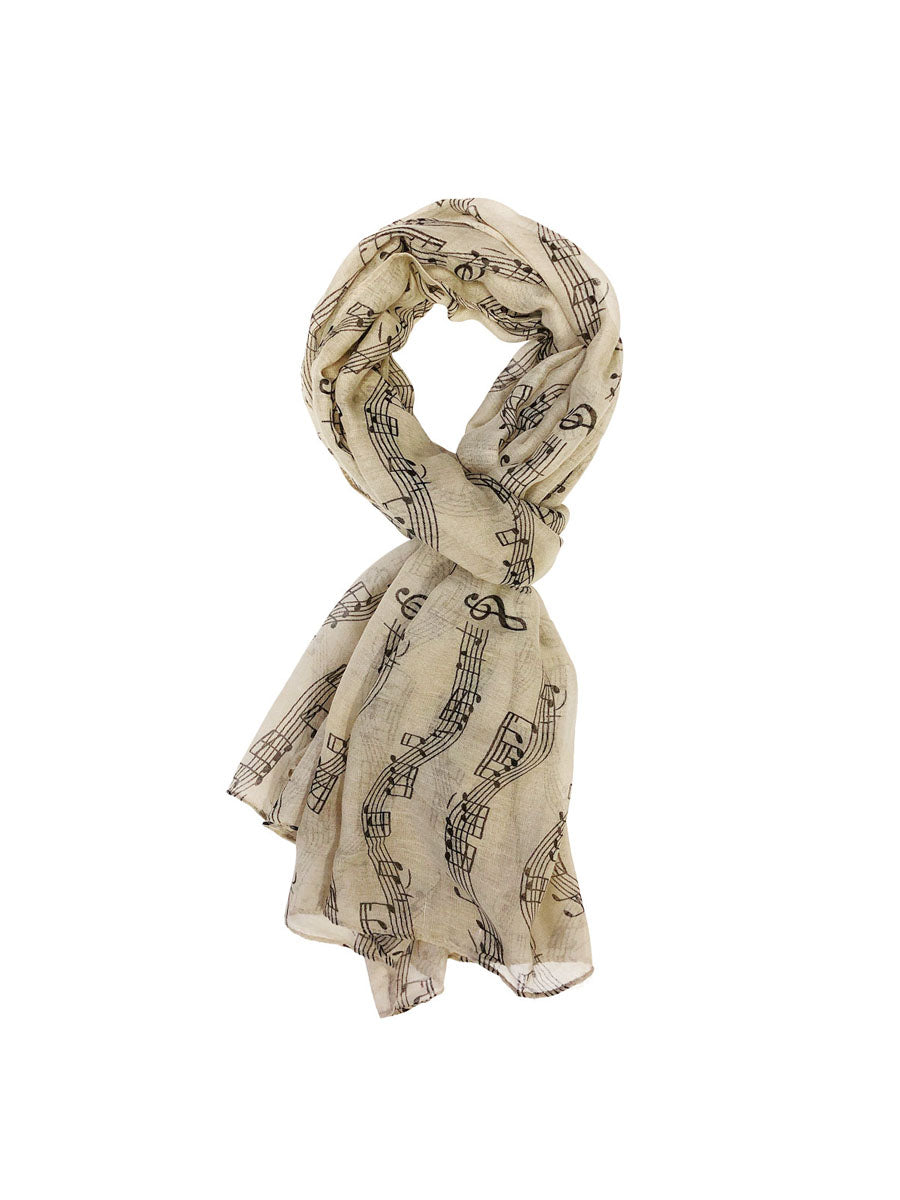 Wrapables® Lightweight Musical Notes Long Scarf