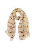 Wrapables® Lightweight Cats and Musical Notes Long Scarf