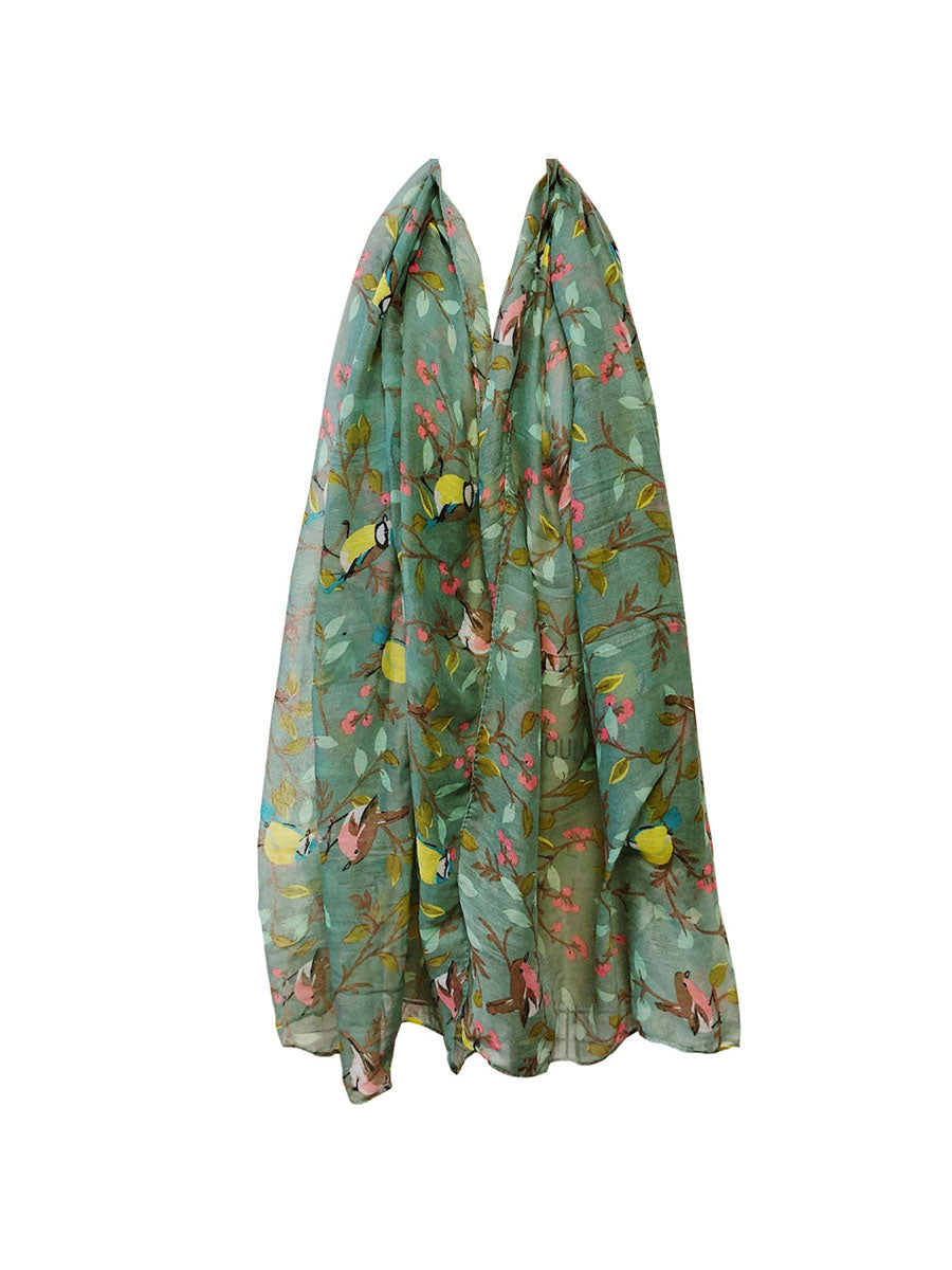 Wrapables® Lightweight Bird Print Long Scarf