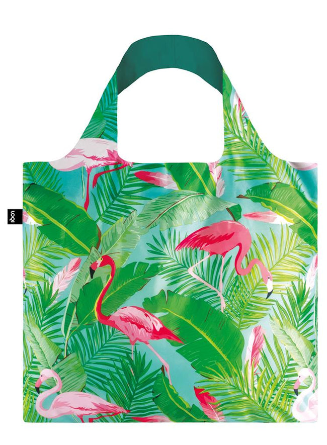 LOQI Wild Flamingos Reusable Shopping Bag
