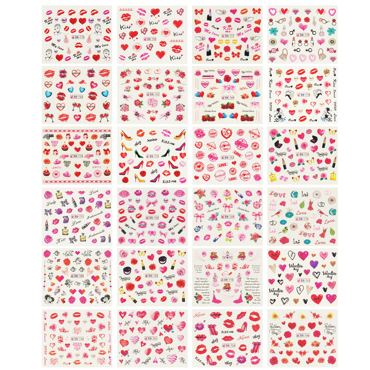 Heart Valentines Day Lovers Gift Wrap Sheet 2 sheets Quality NEW