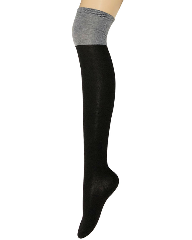 Wrapables® Women's Knee High Cotton Boot Socks
