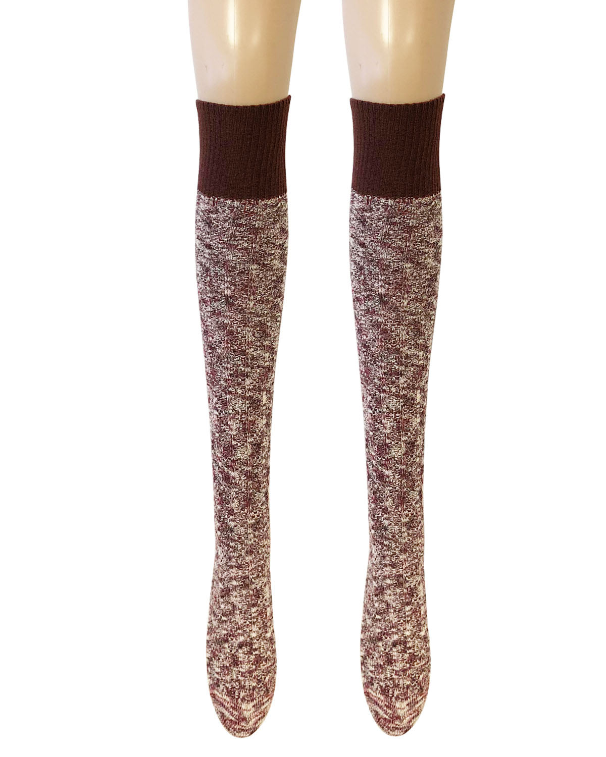 Wrapables® Women's Warm Knitted Vintage Knee High Boot Socks