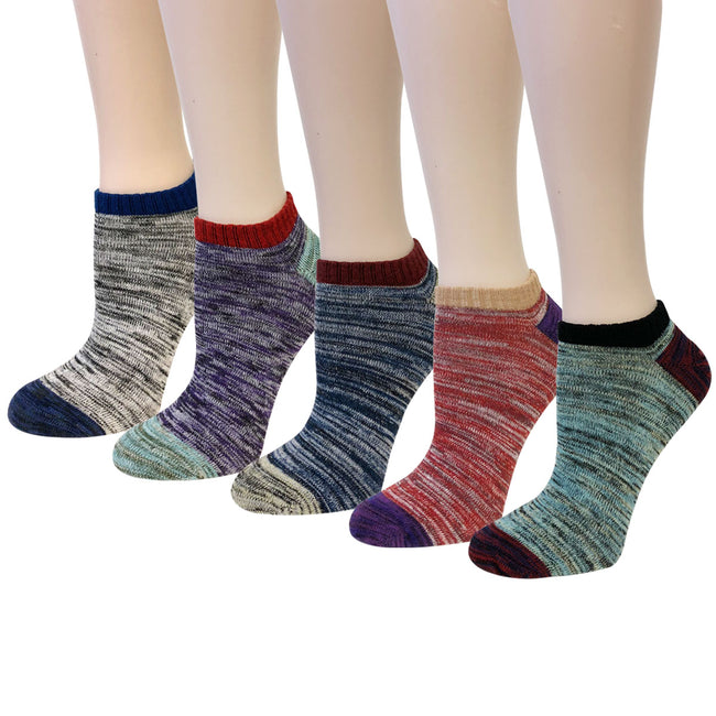 Wrapables® Unisex No Show Ankle Socks (Set of 5)