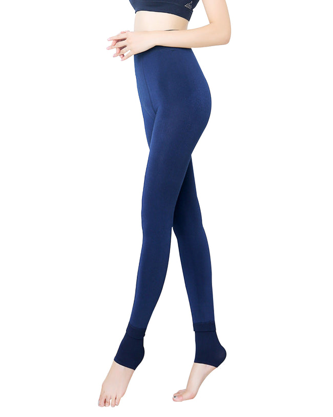 Wrapables® Women's High Waisted Medium-Thick Fleece Lined Tights Leggings