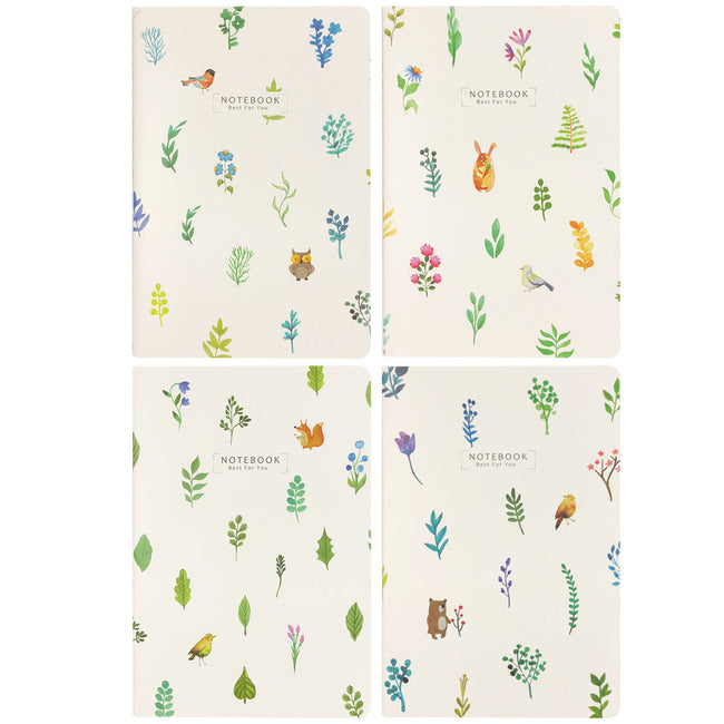 Wrapables® Softcover Composition Notebooks and Journals (Set of 4)