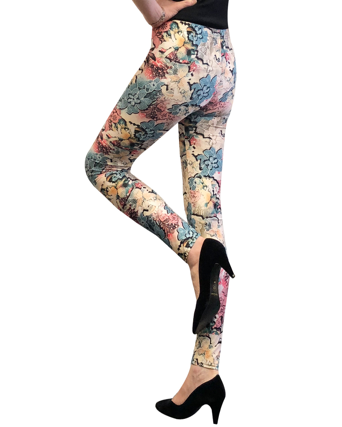 Wrapables Women/'s Ultra-Soft and Stretchy Printed Leggings for Activewear and Workout