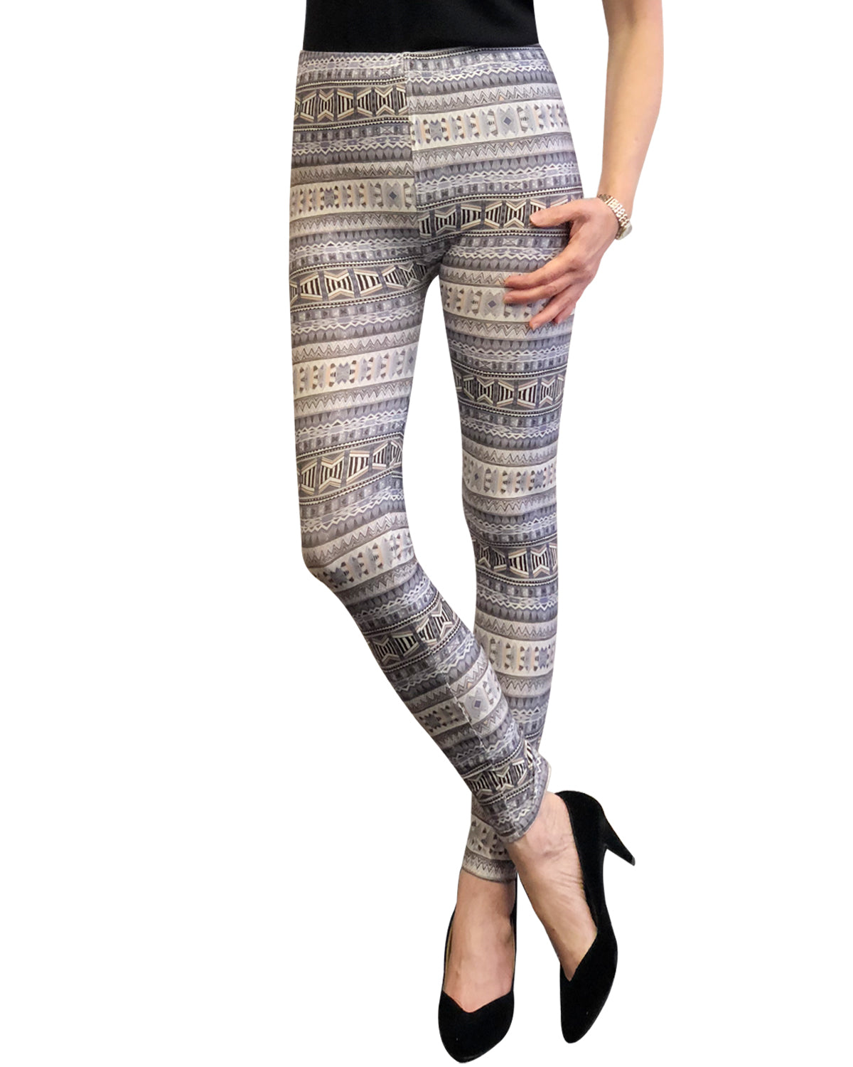 Wrapables® Women's Ultra-Soft and Stretchy Printed Leggings for Activewear and Workout