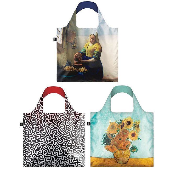 LOQI Assorted Museum Reusable Bags (Set of 3)