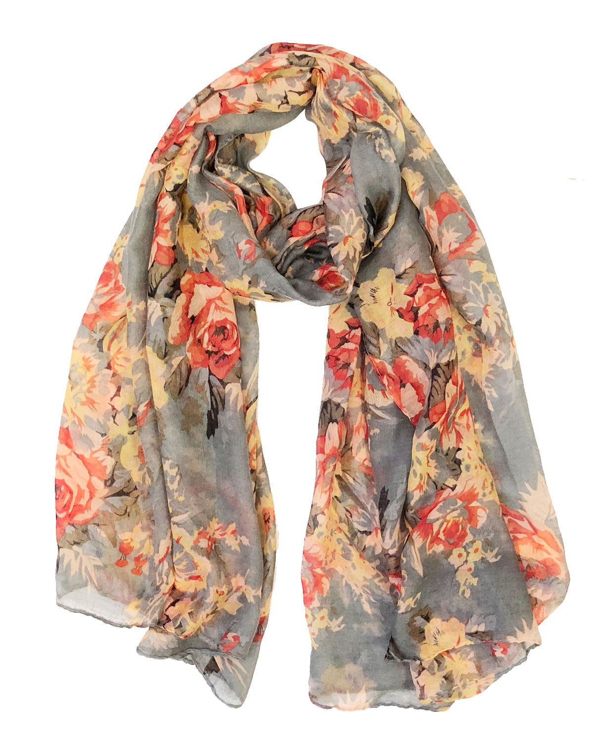 Wrap Shawl lovely material brand new Throw Blue Poppy Long Scarf