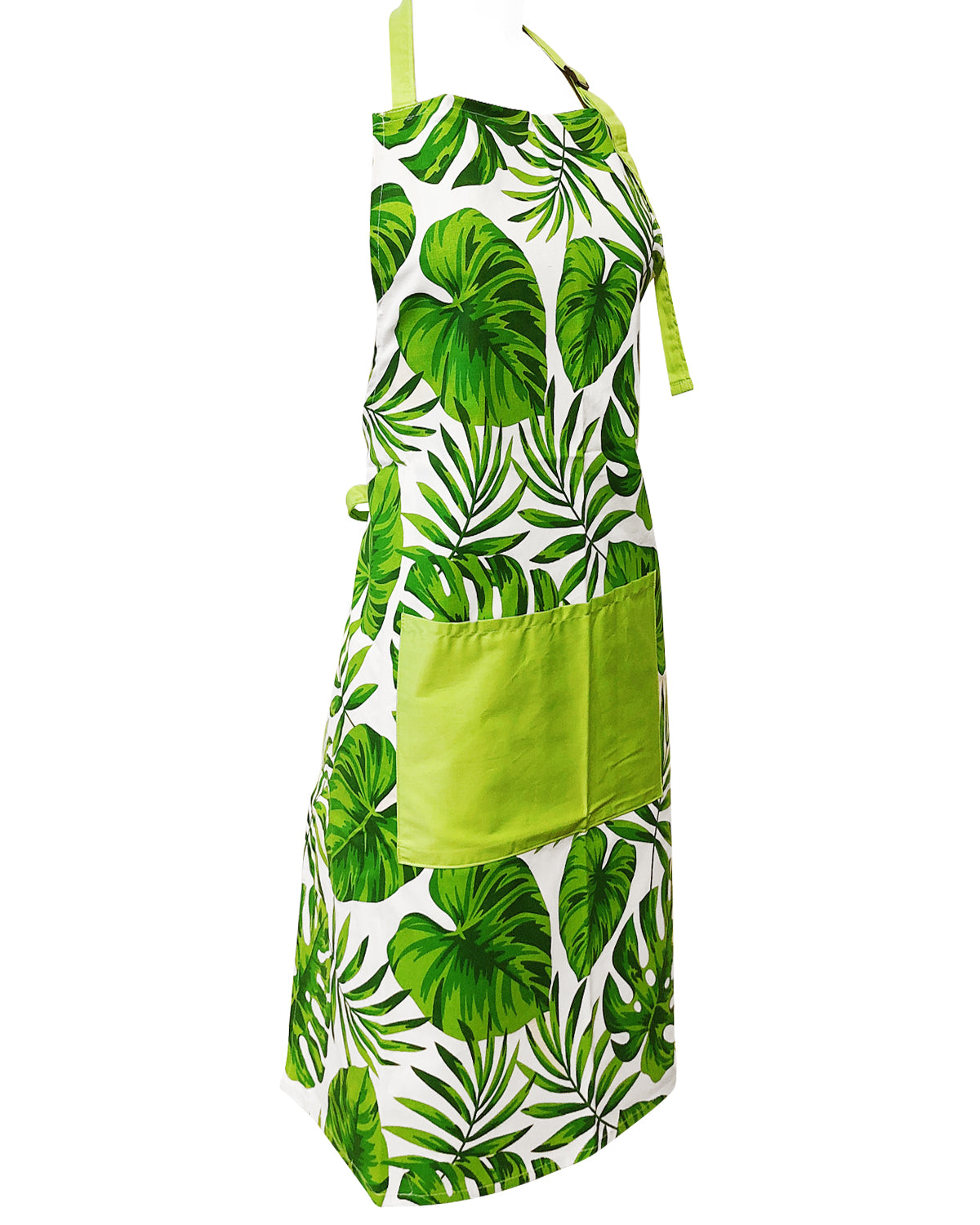 Wrapables® Green Fern Leaves Unisex Apron